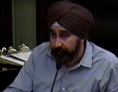 Councilman Ravi Bhalla during Wednesday night's meeting.