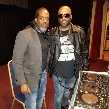 Brian White, right, who uses the professional name Brian Psalms, is seen with his mentor, DJ Joe Smith.