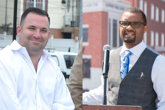 """Pandolfo said what Shawn Thomas, left, and Muhammad Akil said about him in the recorded conversation """"wasn't kind."""""""