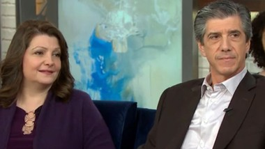 Kevin Daly is seen with his wife, Rachelle, in a screen shot from an interview on NBC Nightly News.