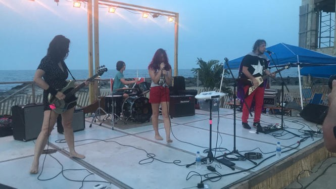 The RocknRoll HiFives kicked off their summer tour with a show on the Asbury Park beach in early July.
