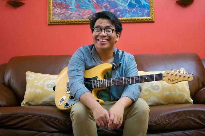 Helloimdylan, the stage name of Jersey City native Dylan Schroth, will bring dorky emo-pop to the Arts on the Hudson Festival.