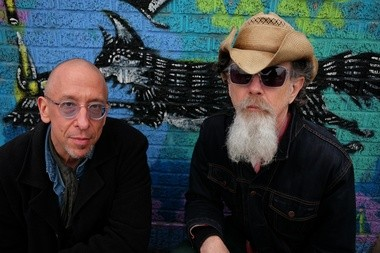 Bassist Larry Heinemann and guitarist Walter Parks work together on the ambient electronic project Downright Iridescent.