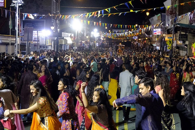 Thousands dance on the streets of Jersey City to celebrate ...  Navratri
