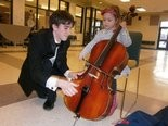 Hunterdon Symphony held a concert for young people Saturday, Feb. 8 and afterward they could try out various instruments.