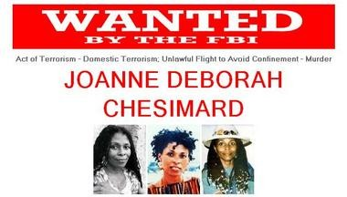 Joanne Chesimard is wanted by the FBI.