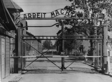This undated file picture shows the main gate of the Nazi concentration camp Auschwitz I, near Oswiecim, Poland, which was liberated by the Russians in January 1945.