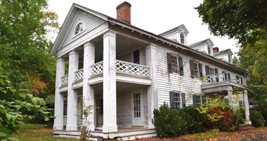 Southwest corner of main house at Beaver Brook Homestead (from Area in Need of Redevelopment study by Burgis Assoc.)