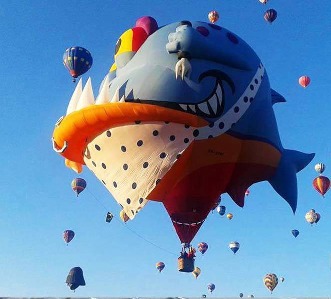 Straight out of a good B-movie, the QuickChek New Jersey Festival of Ballooning is launching a 75-foot-tall, 500-pound Brazilian piranha into the skies. The festival takes place July 29-31. (courtesy photo)