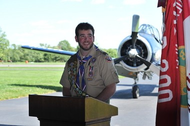 Peter J. Schaible achieves Eagle Scout Award: Highest Rank in scouting.