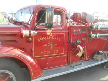 Annandale Fire Company's antique fire truck