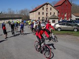 Bicyclists take part in the 2013 Tour de Open Space.