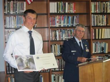 Jared Bogdan and Lieutenant Colonel John Casey.