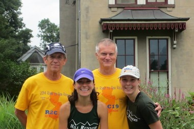 Pictured here, (from left) are Steve Brookman, Amy Laspada, Colin Saville and Becca Mazzolla.