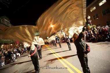 Pictured is Hunterdon Central Regional High School performing in the 2013 Hunterdon Holiday Parade. (Photo courtesy of Brokaw Photography)