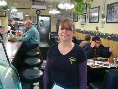 Rosella Caloiero in her Frenchtown Cafe