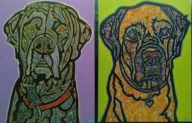 Kevin Von Holtermann does commissioned pet portraits, but he does them his way.