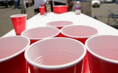 Fill a 16-ounce red plastic cup three times from the keg and it's the equivalent of four drinks of alcohol. 'One' beer is 12 ounces. (File photo)
