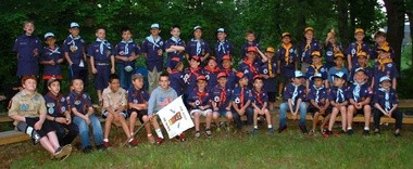The Cub Scouts of Pack 1980 of Readington celebrated the end of the 2014-2015 Scouting year with a family picnic, advancement ceremony, and overnight camping at Hunterdon County YMCA Camp Carr. (courtesy photo)