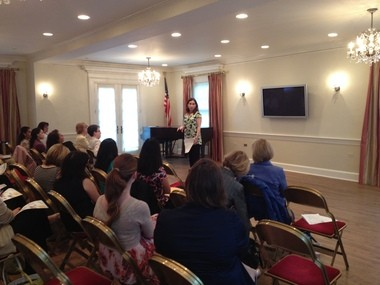 Summit/New Providence women's group offers networking options. Various B.I.G. meetings in Summit/New Providence throughout 2012. Meetings are held at Historic Twin Maples, the Fortnightly Club home at 214 Springfield Ave., Summit. Here, Melanie Wilson addresses the group in May 2012.