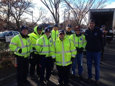 Pictured here, (from left) in front of the Food Bank truck are this yearâs frozen volunteers from the Rescue Squad, Jerry Madden, Carl Ganger, Mel Harari, Kari Phar, Ken Herr, John Christmann, Steve Mortenson and Dave Schemp.