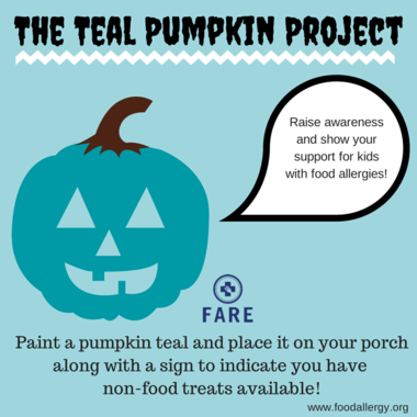 FARE offers fliers to display at homes offering non-food Halloween treats as well as the traditional candy. Visit the website, foodallergy.org to obtain more promotional materials. (Courtesy photo)