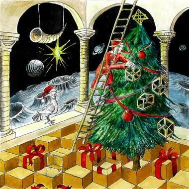 Berkeley Heights artist Rachel Wintemberg's artwork is included in an art history book for children called 'If Picasso Had a Christmas Tree.' She chose to imagine a painting of a Christmas Tree by M.C. Escher. (Courtesy Photo)
