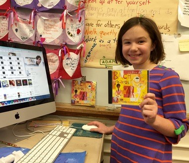 Instead of 'Baby Bach,' Franklin School in Summit has implemented a kind of 'Elementary Bach' in the classroom with help from an SEF grant: 'Classical Music in the Classroom.' Pictured is Charlotte Whitcher, third grader at Franklin School in Summit. (courtesy photo)