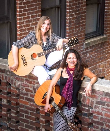 The music of Joan Baez and Joni Mitchell will be featured at The Minstrel on Friday, May 20 at 8:00 pm at the Morristown Unitarian Fellowship, 21 Normandy Heights Road, Morristown. Performing will be the duo of Allison Shapira and Kipyn Martin. (courtesy photo)