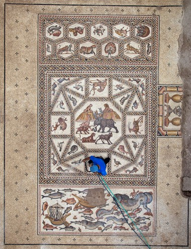 The Lod Mosaic was discovered in 1996 when construction workers were tasked with widening a road in Lod, Israel.