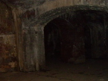 In this picture, captured at Fort Delaware, there seems to be a strange white figure standing in the entrance to the tunnel. However, because of the natural patterns on the walls, this is most likely caused by matrixing.