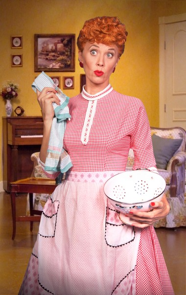 Sirena Irwin as Lucy in 'I Love Lucy Live on Stage.'