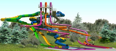 A new water slide complex addition will open at Dorney Park & Wildwater Kingdom in the spring of 2014.