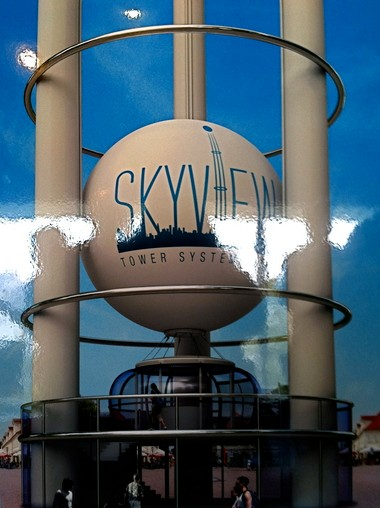 An artist's rendering of the Skyview Tower, scheduled to open on the Camden waterfront near Adventure Aquarium in Spring 2015.