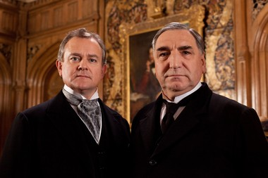 """Hugh Bonneville as Lord Grantham (left) and Jim Carter as Mr. Carson from the popular series """"Downton Abbey."""" The fourth season of 'Downton Abbey' will debut Sunday, Jan 5, 2014."""