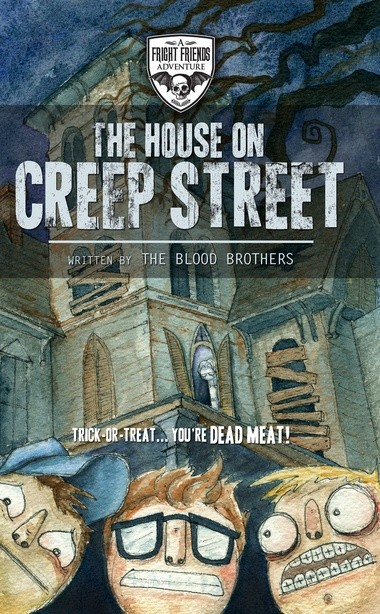 The cover of 'The House on Creep Street' by The Blood Brothers.