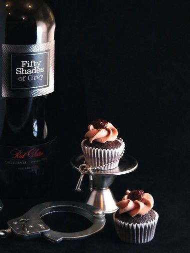 Fifty Shades of Grey wine mini cupcakes by Prohibition Bakery in New York City.