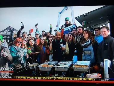 PhanCave, a tailgating service based in Philadelphia, is owned by West Deptford native Jacqueline McDevitt. (Photo provided)