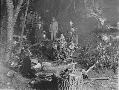 The United 23 crash site near Chesterton, Indiana.