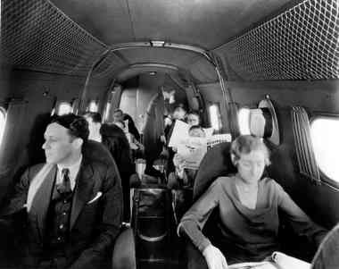 The interior of the Boeing 247