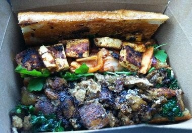 Thanksgiving sandoo from Cinnamon Snail, a vegetarian food truck in Red Bank.
