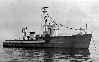 The converted World War II minesweeper that became Radio Free America.