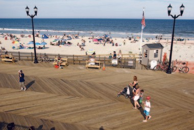 The view from over the boardwalk in Seaside Heights.