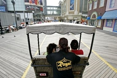 "Rolling chairs are such a part of the Atlantic City Boardwalk tradition that a song, ""Why Don't You Try?"" (known as ""The Rolling Chair Song""), was written about them in 1905."