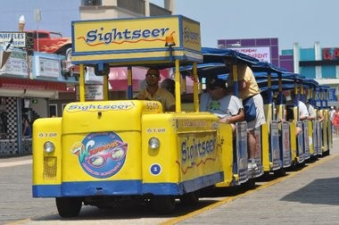 "The only place in the world visitors will hear ""Watch the Tram Car, Please"" is Wildwood, where the yellow cars rumble down the boardwalk."