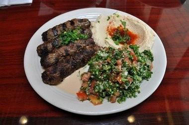 The Kafta Combination Plate at Norma's Eastern Mediterranean Restaurant