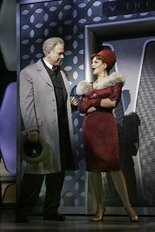"John Larroquette and Tammy Blanchard share the stage in a 2011 production of ""How to Succeed in Business Without Really Trying"" on Broadway."