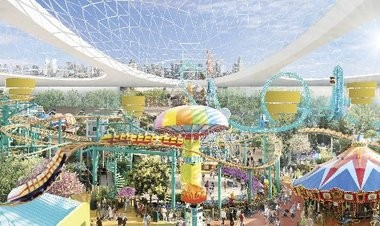 The supersized proposal by Triple Five for the American Dream complex, as seen in this rendering, includes an indoor amusement park and a water park.