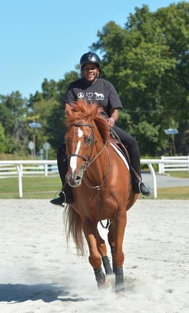 """""""I started riding three years ago and I love it,"""" says Battle, who co-anchors NBC's """"Weekend Today in New York."""""""
