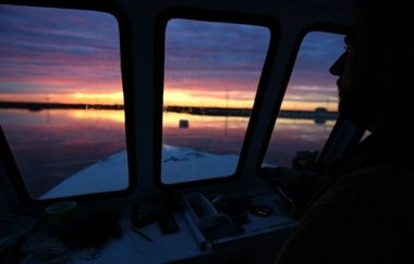 The view from Matt Gregg's boat as he plys Barnegat Bay.